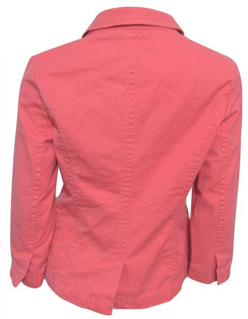 Old Navy New Pink M Medium 8 10 3/4 Sleeves Cotton Buttoned Jacket Image 1