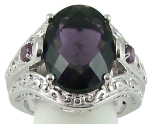 Victoria Wieck Victoria Wieck 5.52ct Purple Fluorite and Rhodolite Sterling Silver Ring - Size 5
