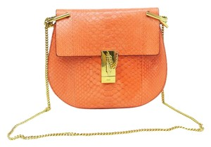 Chloé Chloe Drew Snakeskin Cross Body Bag