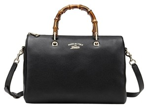Gucci Bamboo Bamboo Boston Style 353124 353124 Bamboo Satchel in Black