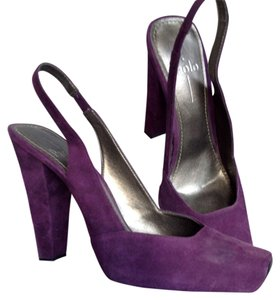 Linea Paolo Dark Purple Suede Pumps