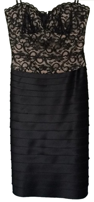 BCBGMAXAZRIA Cocktail Party Party Sweetheart Tiered Layered Skirt Dress