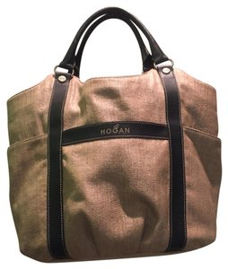 Hogan Tote in Black/Tan