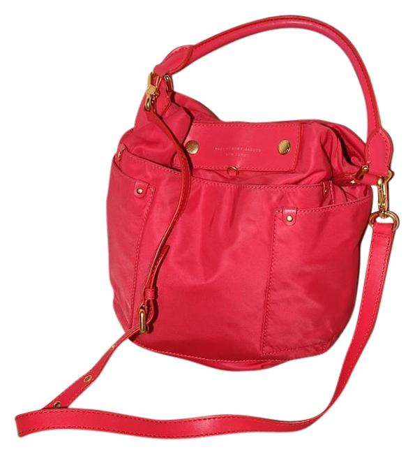 Item - Preppy Hot Pink Nylon Hobo Bag