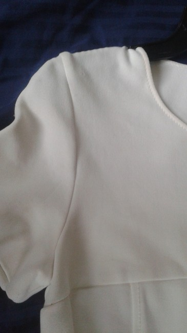 Les Copains White 42 Fitted By Made In Italy Mid-length Work/Office Dress Size 6 (S) Les Copains White 42 Fitted By Made In Italy Mid-length Work/Office Dress Size 6 (S) Image 4