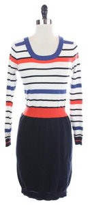 MILLY Blue Red Striped Sweater