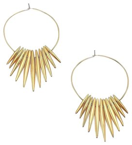 Michael Kors MKJ4500 Michael Kors Tribal Spike Hoop Earrings Polished Gold Tone