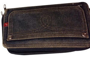 Unknown Zip Around Denim Wallet