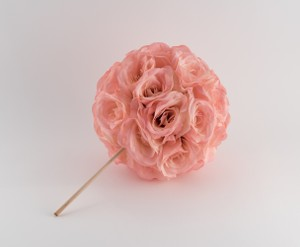 "Soft Pink Blush 10"" Flower Ball Centerpiece Pomander Kissing Ball - Quantity 11 Reception Decoration"