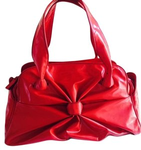 Valentino Patent Leather Satchel in Red