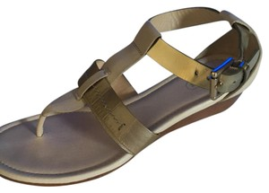 Coach tan with goldtone Sandals