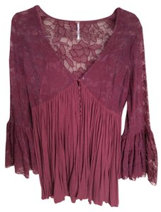 Free People short dress Burgundy on Tradesy