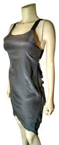 Olivaceous Size Small Silk P1023 Gray Dress