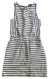 Ann Taylor LOFT short dress Navy and White Striped on Tradesy
