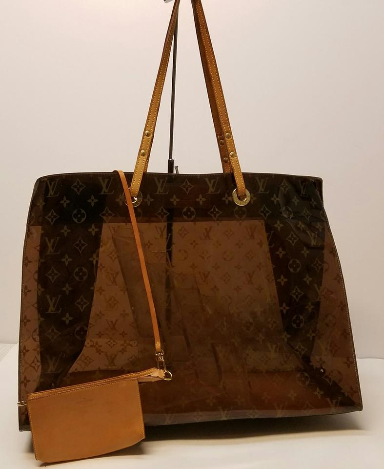 14c8fc80efa Louis Vuitton W Cabas Monogram Gm Cruise Pouch Limited Edition Jumbo Extra  Large Ambre (Brown) Vinyl & Leather Tote
