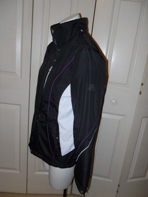 ZeroXposur black, white & purple Jacket