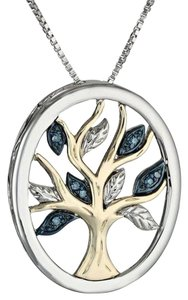Other Silver Tone Tree Of Life Pendant Necklace J2611 Summersale
