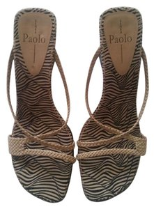 Linea Paolo Sandal Wedge Quality Tan Sandals