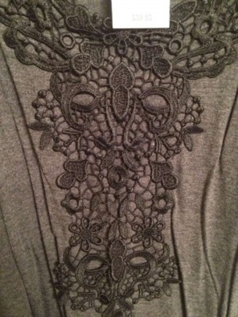 Lane Bryant Soft T Shirt Grey Black