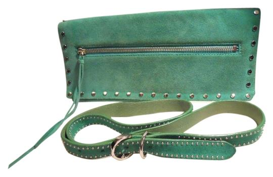 Banana Republic Suede Studded green Clutch