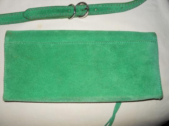 Banana Republic Suede Studded green Clutch Image 1