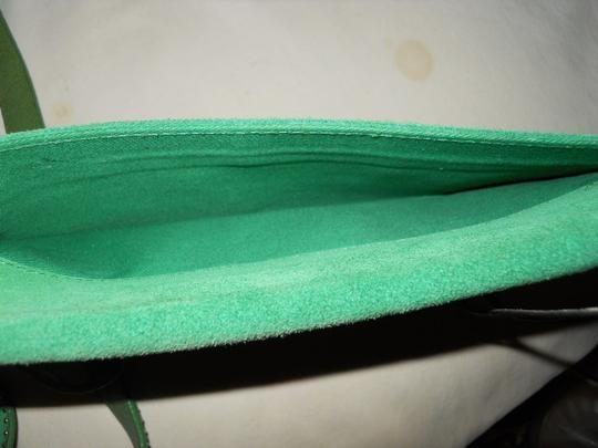 Banana Republic Suede Studded green Clutch Image 3
