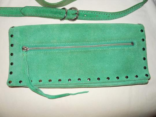 Banana Republic Suede Studded green Clutch Image 4