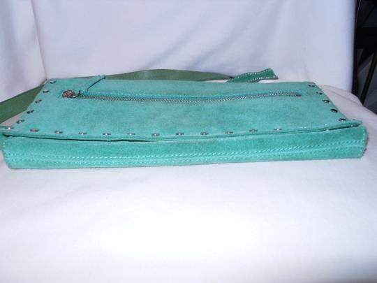 Banana Republic Suede Studded green Clutch Image 6