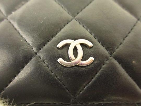 Chanel Chanel Lambskin Quilted Wallet Black