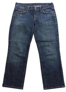 Citizens of Humanity Kelly Pacific Low Waist Cropped Straight Leg Jeans-Medium Wash