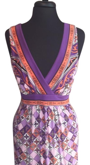 Item - Purple Print Long Night Out Dress Size 8 (M)