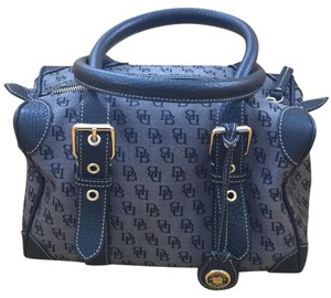 Dooney & Bourke Satchel in Gray And Blue