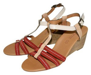 Paul Green Austria Wedges Red Sandals