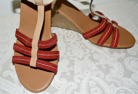 Paul Green Austria Wedges Comfortable Nordstroms Red Sandals Image 5