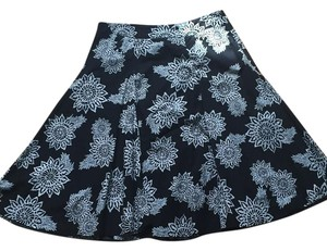 New York & Company Skirt Black, white