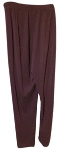 Tesori Straight Pants Burgundy