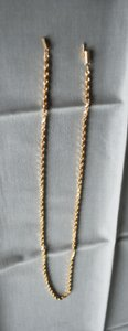 Gently Used 14k Yellow Gold Chain Necklace