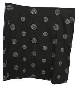 Willi Smith Mini Skirt Black with white accents