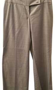 MICHAEL Michael Kors Trouser Pants Light Gray Plaid Trousers
