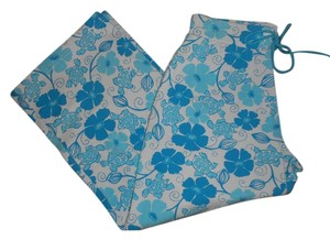 Lilly Pulitzer Floral Capris Blue/White