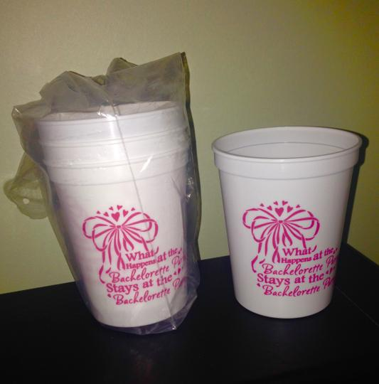 4 Bachelorette Party Plastic Cups