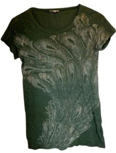 J.Crew T Shirt fatigue green and gold