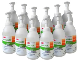 3M 9321A Instant Hand Antiseptic Foam 500 mL Pump Bottle Pack of 12
