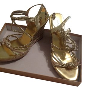 Michael Kors Wedge Gold Wedges