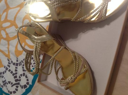 Michael Kors Like New Gold Wedges