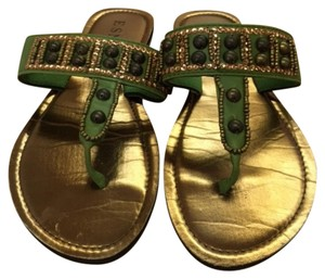 ESNY Green and Gold Sandals