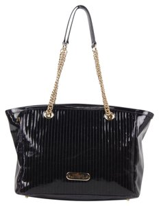 Versace Patent Leather Tote in Eggplant