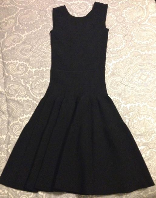ISSA London Black Ribbed Stretch-knit Mid-length Night Out Dress Size 2 (XS) ISSA London Black Ribbed Stretch-knit Mid-length Night Out Dress Size 2 (XS) Image 3
