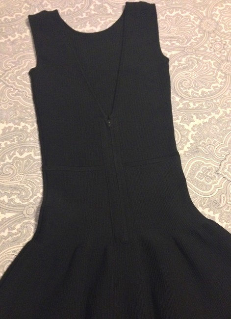 ISSA London Bodycon A-line Stretchy Ribbed V-back Dress Image 3