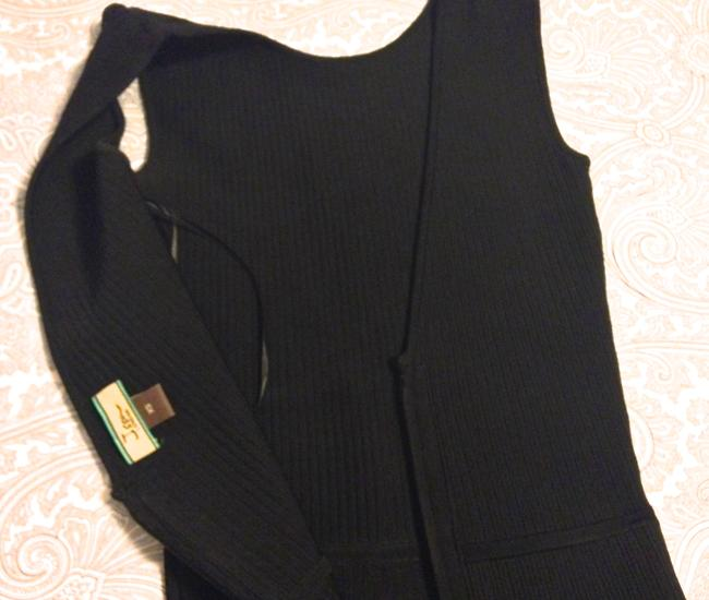 ISSA London Bodycon A-line Stretchy Ribbed V-back Dress Image 4